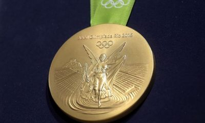 A-close-up-of-the-Olympic-gold-medal