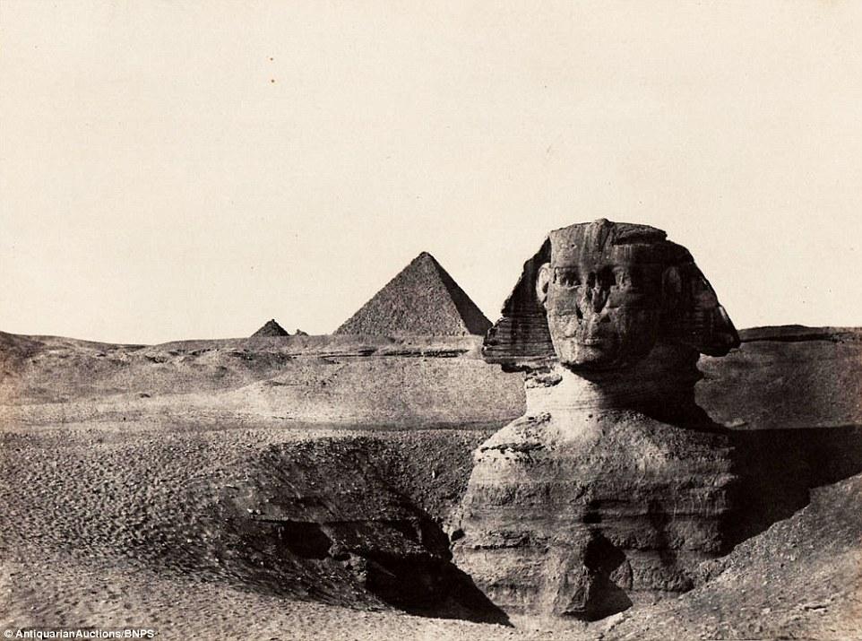 صورة تمثال أبو الهول بعد التقاطها ب170 عامًا.