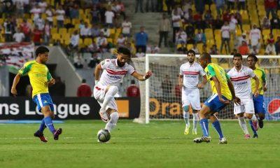 جانب من مباراة الزمالك وصن داونز بالإسكندرية 23 أكتوبر 2016 - صورة لأصوات مصرية