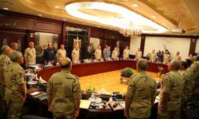 السيسي في اجتماع سابق مع المجلس الأعلى للقوات المسلحة - صورة أرشيفية من صفحة المتحدث العسكري