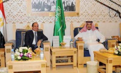 الرئيس عبد الفتاح السيسي خلال اجتماعه مع ملك السعودية سلمان بن عبد العزيز، 2 مايو 2015 - صورة من الرئاسة.