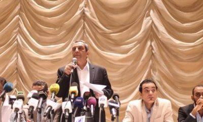 نقيب الصحفيين يحيي قلاش خلال اجتماع بمقر النقابة - 18 مايو 2016 - صورة لأصوات مصرية