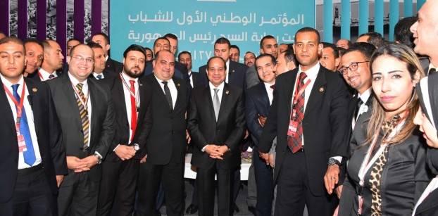 الرئيس عبد الفتاح السيسي خلال مؤتمر الشباب بشرم الشيخ 25 أكتوبر 2016 - التلفزيون المصري