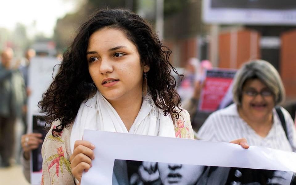 سناء سيف، صورة من صفحتها على الفيس بوك