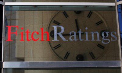 شعار فيتش للتصنيفات الائتمانية في نيويورك. صورة من رويترز