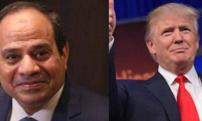 الرئيس المصري عبد الفتاح السيسي ونظيره الأميريكي دونالد ترامب