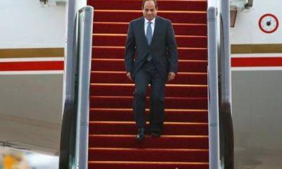 الرئيس السيسي في مدينة هانجشو الصينية - صورة من رويترز
